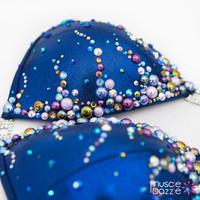 Royal blue figure competition suit