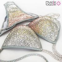 Gold / Silver Swarovski Crystal Competition Bikini
