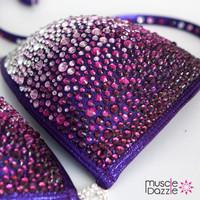 Dark Purple Swarovski Competition Bikini