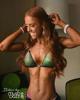 Swarovski Green Ombre Competition Bikini
