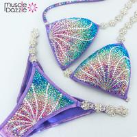 Swarovski Purple Competition Bikini