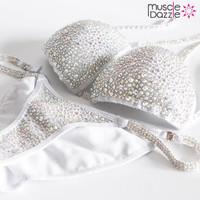Silver Swarovski Crystal Competition Bikini