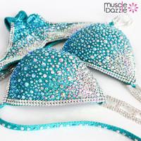 Swarovski Teal Competition Bikini
