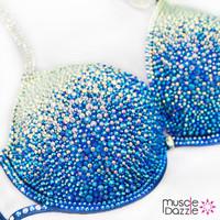 Swarovski Blue Ombre Competition Bikini