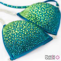 Swarovski Turquoise Competition Bikini