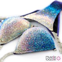 Blue Swarovski Crystal Competition Bikini