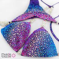 Purple/Blue Swarovski Competition Bikini