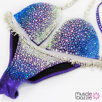 Blue/Purple Swarovski Competition Bikini