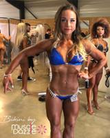 Royal Blue Hologram Competition Bikini