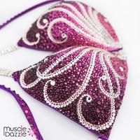 Purple Swarovski Competition Bikini