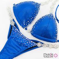 Affordable Royal Blue Swarovski Competition Bikini