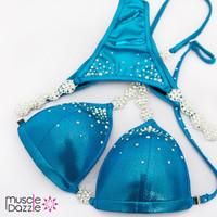 Aqua Blue Swarovski Competition Bikini