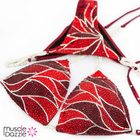 Red Swarovski Crystal Competition Bikini