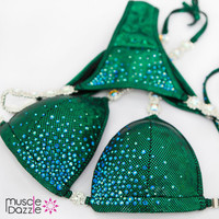 Swarovski Competition Bikini Forest Green