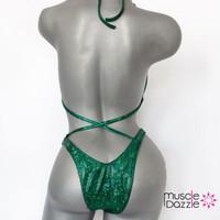 Dark Green Plain Figure Suit