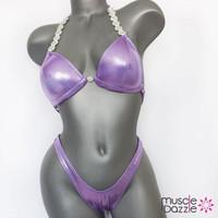Lilac Plain Figure Posing Suit