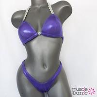 Lavender Plain Figure Suit