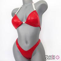 Red Plain Figure Suit