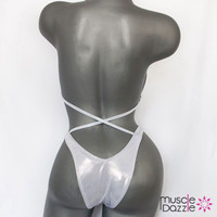 Silver Plain Figure Suit