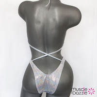Silver Hologram Plain Figure Suit