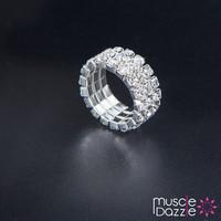 Crystal Rhinestone Ring   Bikini Competition Jewelry