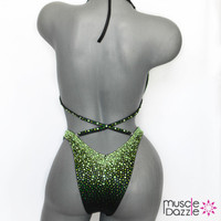 Green and Black Figure Suit