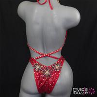 Red Firework Figure Suit