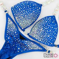 Affordable Blue Crystal Competition Bikini