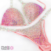 Baby Pink Ombre Competition Bikini