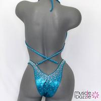 Aqua blue figure suit