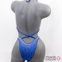 Affordable royal blue figure suit