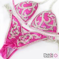 Pink competition bikini