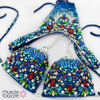 Blue WBFF Bikini Diva Suit