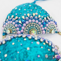 Aquamarine Bikini Competition Suit