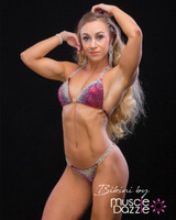 Dark red competition bikini