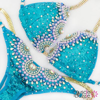 Aquamarine Bikini Competition Suit
