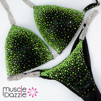 Green and Black Competition Bikini