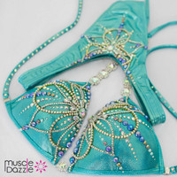 Turquoise Figure Competition Suit
