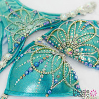 Turquoise Bikini Competition Suit