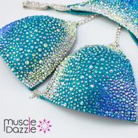 Aqua crystal competition bikini