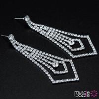 Silver Bikini Competition Earrings