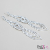 Crystal Bikini Competition Earrings
