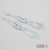 Crystal Bikini Competition Earrings