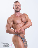 Silver Hologram Mens Bodybuilding Posing Trunks