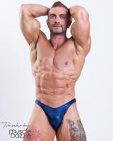 Dark Blue Mens Bodybuilding Posing Trunks