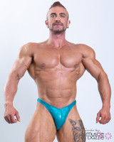 Teal Hologram Bodybuilding Posing Trunks