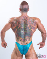 Teal Hologram Bodybuilding Posing Trunks