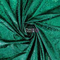 Dark Green Hologram Spandex