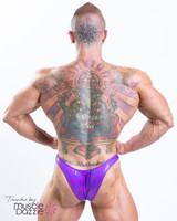 Purple Men's Bodybuilding Posing Trunks (TR017)