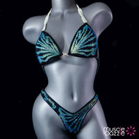 Blue Coral Figure Competition Suit